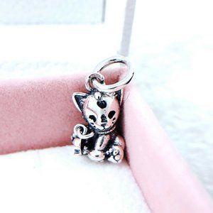 Authentic Pandora Silver 925 ALE Sweet Cat Dangle